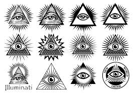 illuminati symbols illuminati symbols masonic sign all seeing eye stock vector