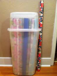 large rolls of wrapping paper simple hallway with wrapping paper plastic storage box archaic