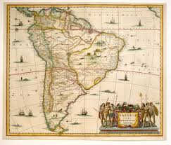 Maps South America by Antique Map Janssonius South America