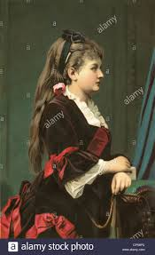 people women lady in velvet gown germany circa 1880 woman
