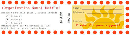 sample raffle ticket templates formal word templates