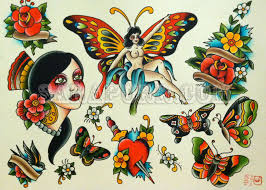 butterfly sara purr tattoo old tattoo design