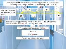 subtraction using partitioning