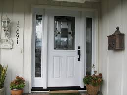 cool front door with sidelites hanging curtain for front door