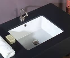 Stone Bathroom Sinks by White Stone Sink 50 Dbl Glazed Under Counter Basin 397 10