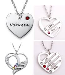 necklace with name ebay images Personalized necklace heart pendant customized necklace birthstone png