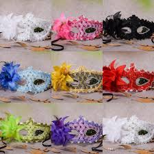 halloween feather masks venetian half face flower feather party mask masquerade party on