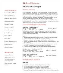Sales Manager Resume   Free  amp  Premium Templates Template net Retail Sales Manager Resume
