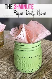 Frugal Flowers - 3 minute paper doily flowers fast frugal and fabulous