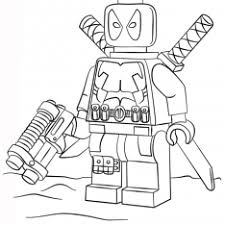 lego wolverine colouring pages