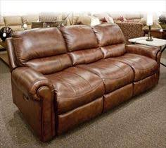 Brown Leather Recliner Sofas Flexsteel Brandon Leather Power Reclining Sofa In Spicy Brown