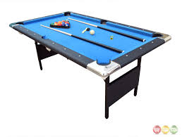 6 ft billiard table blue fairmont 6 ft portable folding pool table w carrying case