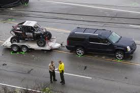 white lexus crash car in bruce jenner crash carried infant and woman who was