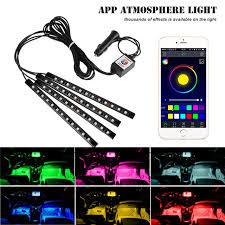 app controlled car lights app control car interior rgb decorative atmosphere led strip lights