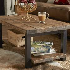 coffee tables exquisite brown rectangle rustic wood and iron