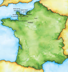 Normandy France Map 2017 Aca France Normandy Unc General Alumni Association