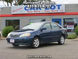 toyota car lot buy here pay here 2007 toyota corolla for sale in hurricane ut