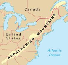 appalachian mountains on map adventure appalachian mountains