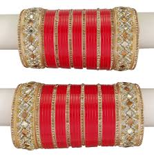 indian women designer chura bangle set bridal wedding chura
