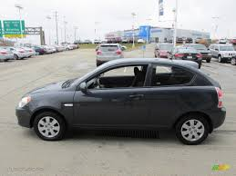 3 door hyundai accent charcoal gray 2010 hyundai accent gs 3 door exterior photo