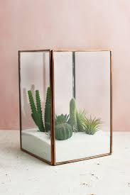 glass terrarium display case copper large glass terrarium