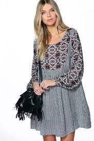 rochie etno retro floral painting dress amazing prints patterns