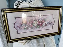 retired signed barbara mock flower print home interior and gifts