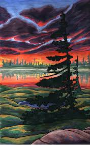 landscape paintings by canadian artist indigo