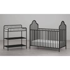 Black Crib With Changing Table Seeds Rowan Valley Lanley Black Metal Crib And Changing