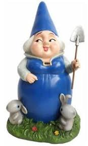 lady blueberry bunnies gnomeo juliet gnome statue garden