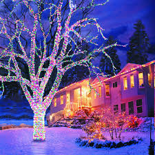 Christmas Decorations Outdoor Trees by Diy Front Yard Landscaping Lighted Christmas Decorations Outdoor