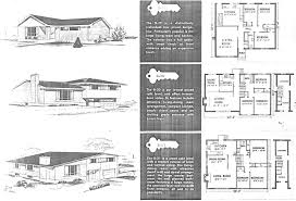 1950s Ranch House Plans Mid Century Modern And 1970s Era Ottawa Campeau In The Late 1950s