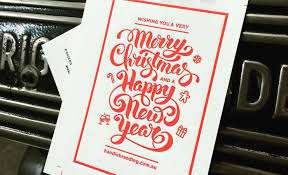 Christmas Cards For Business Clients Letterpress Christmas Card Design