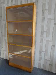 mid century modern barrister bookcase retrocraft design