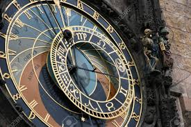 famous astronomical clock in prague czech republic skeleton