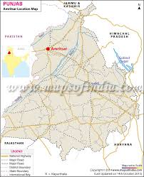 India Physical Map by Amritsar Location Map Where Is Amritsar