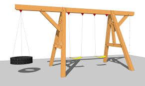 Backyard Swing Set Plans by Wooden Swing Set Plan Wooden Swing Set Plans Swing Set Plans