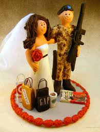 army wedding cake toppers wedding cake topper