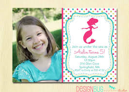 2nd Birthday Invitation Card Mermaid Birthday Invitation 1 2 3 4 5 Year Old Any Age