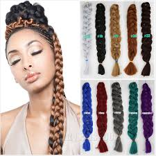 Hairstyles With Jumbo Braiding Hair Aliexpress Com Buy 5pc Xpression Braiding Hair 84