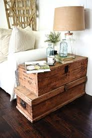 living room makeover stacked trunk end table living room table