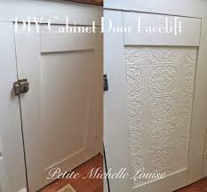 Easy Cabinet Doors Diy Cabinet Door Facelift Using As A Lift On Solid White