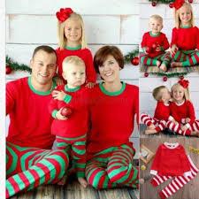 family matching baby kid pajamas set striped