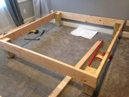 king sized deck diy bed frame with foundation for 100 the