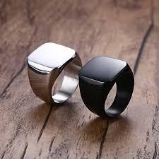 fashion rings men images Buy vnox smooth men 39 s black rock punk rings cool jpg
