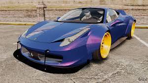 Ferrari 458 Blue - ferrari 458 italia liberty walk for gta 4
