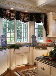 kitchen curtain ideas modern cambridge kitchen bay window seat tilt out trash can cabinet light hardwood