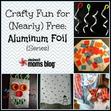 crafty fun for nearly free aluminum foil
