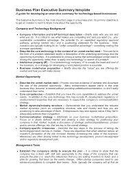 business proposal templates examples business plan executive