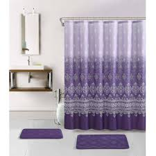 Leopard Bathroom Rugs Bathroom Charming Gorgeous Purple Extra Long Shower Curtains And